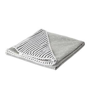 wikkeldeken breton stripes/grijs 100x100 cm