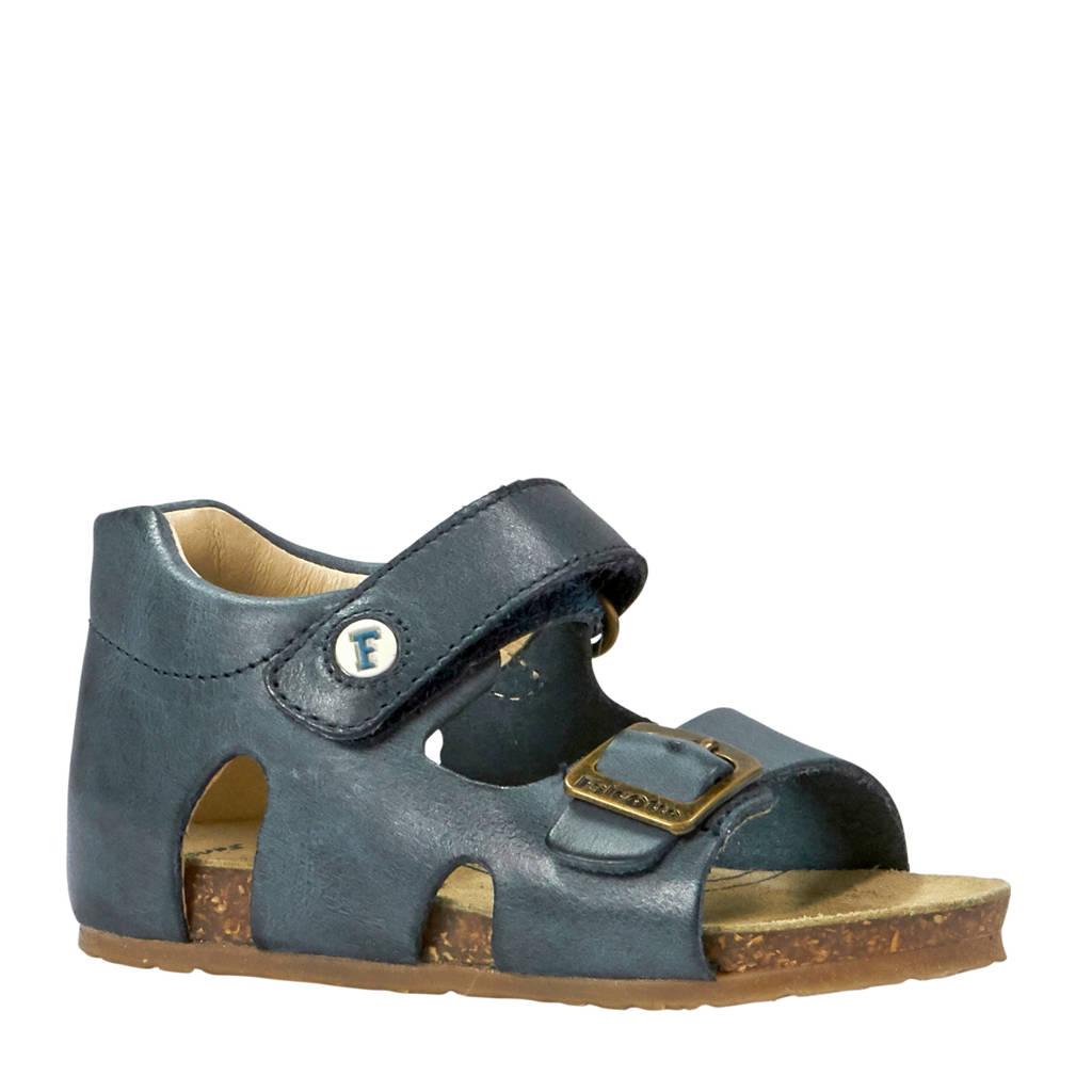 Falcotto Bea leren sandalen blauw, Donkerblauw