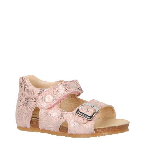 Falcotto Bea Flower leren sandalen roze