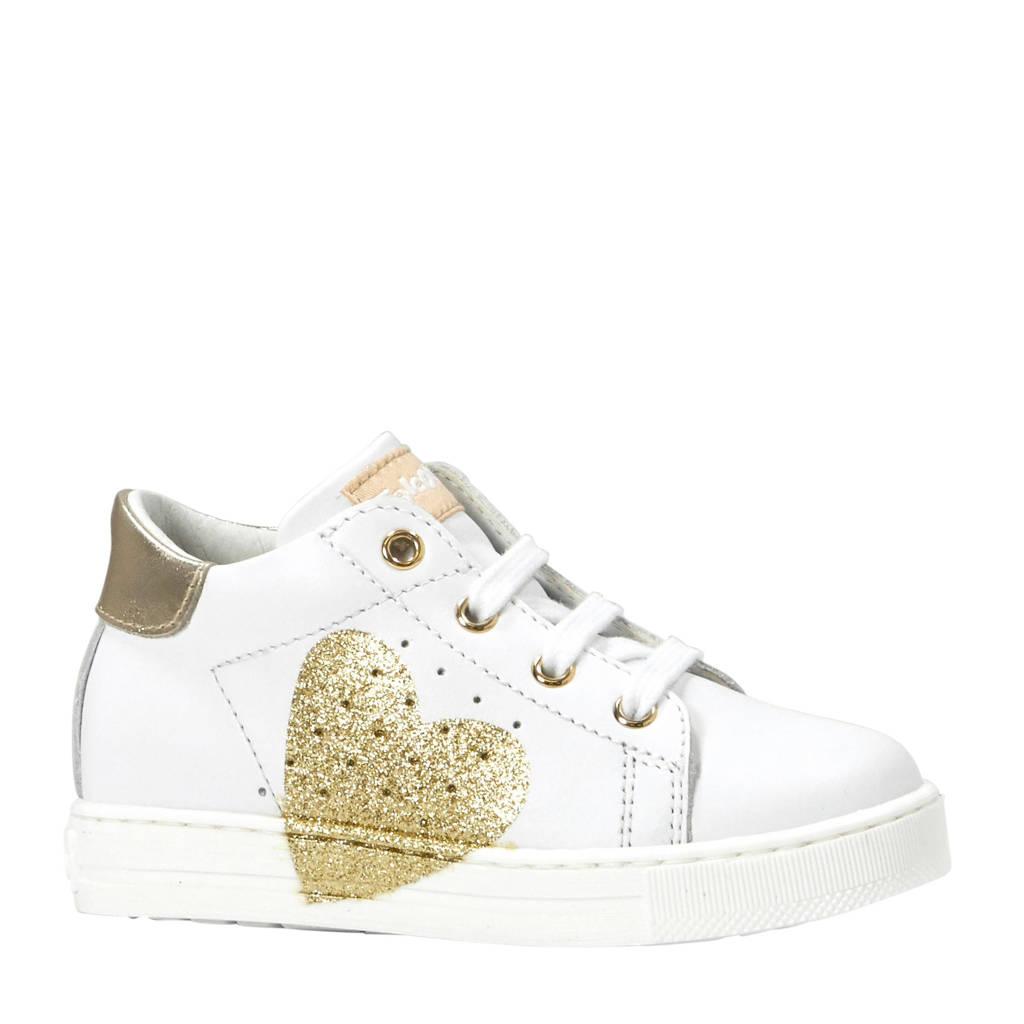 Falcotto  Heart Vitello sneakers wit/goud, Wit/goud