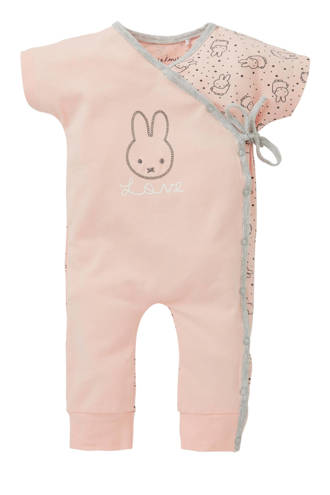 newborn overslagboxpak met all over print roze