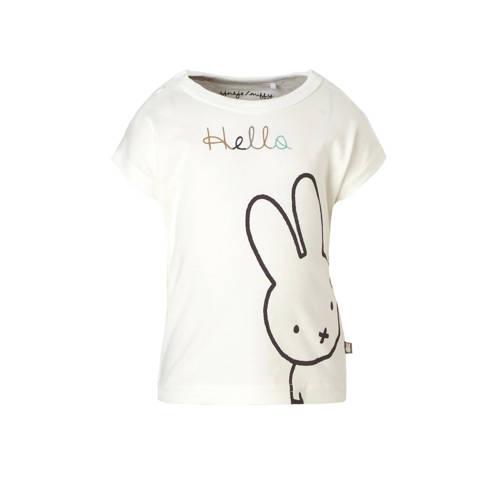 nijntje newborn T-shirt met printopdruk en tekst wit
