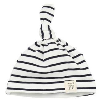 babymuts breton stripes blauw/wit
