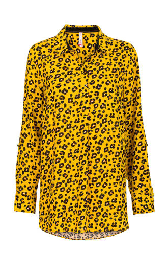 Lang panterprint blouse