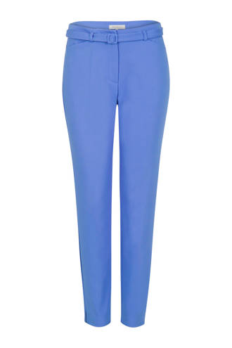 pantalon met riem blauw