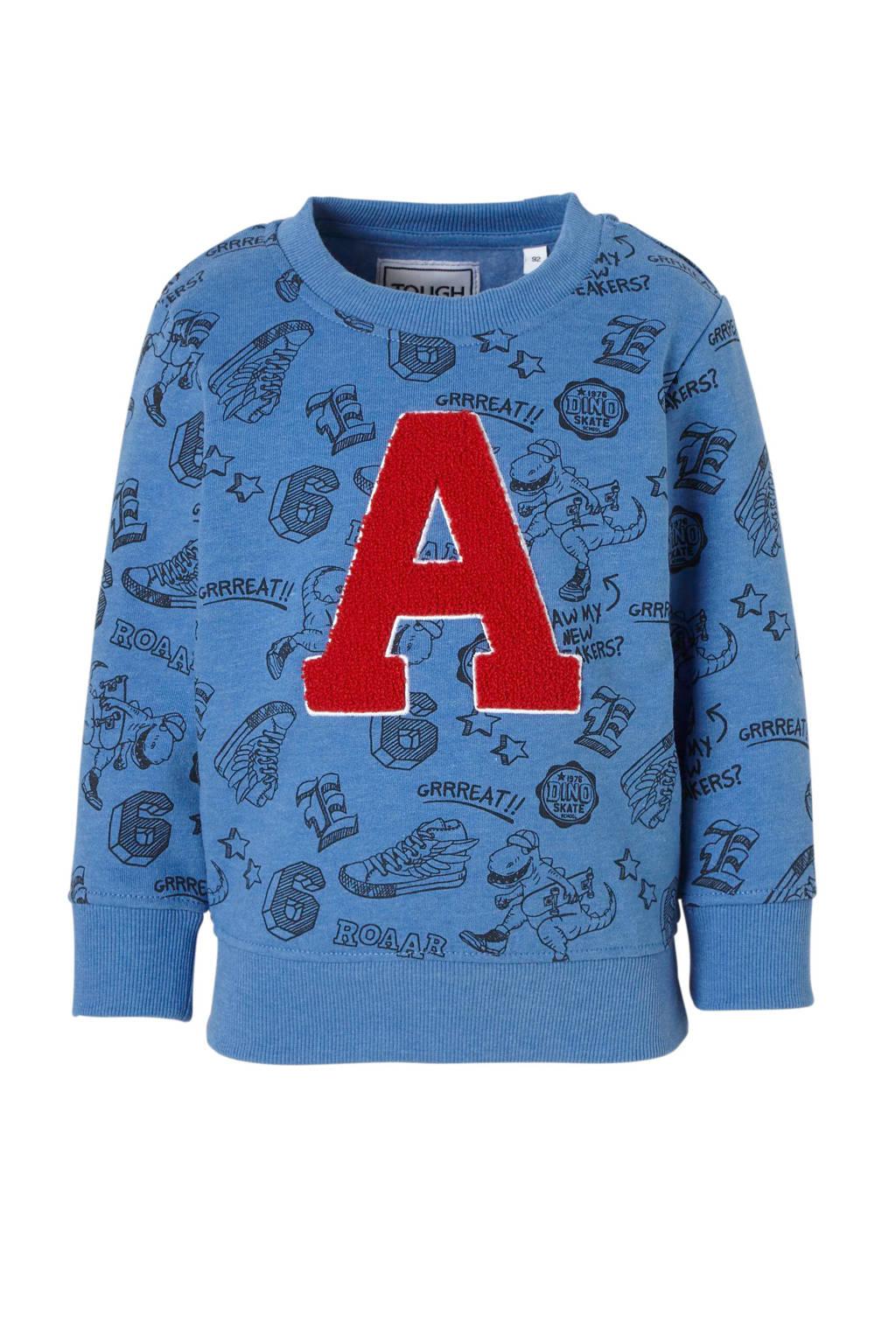 C&A Palomino sweater met all over print blauw, Blauw