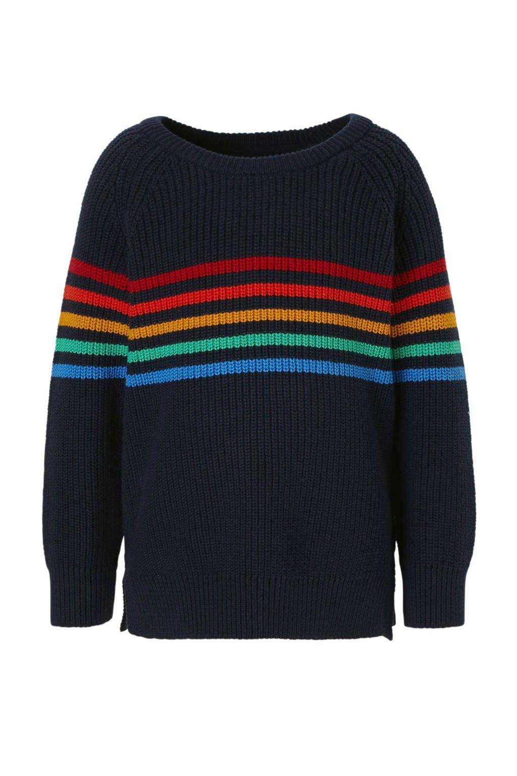 C&A Palomino trui met strepen blauw, Donkerblauw