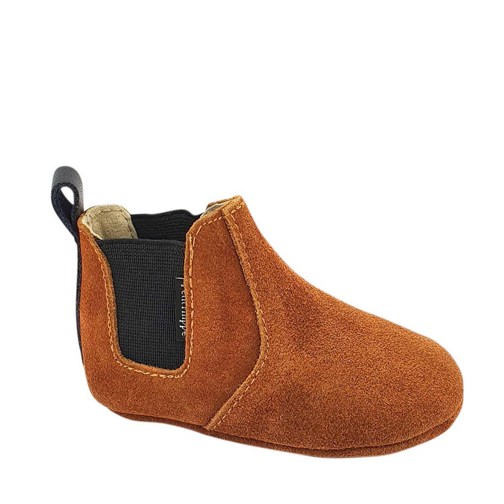 Petit Filippe suède chelsea boots cognac, Cognac