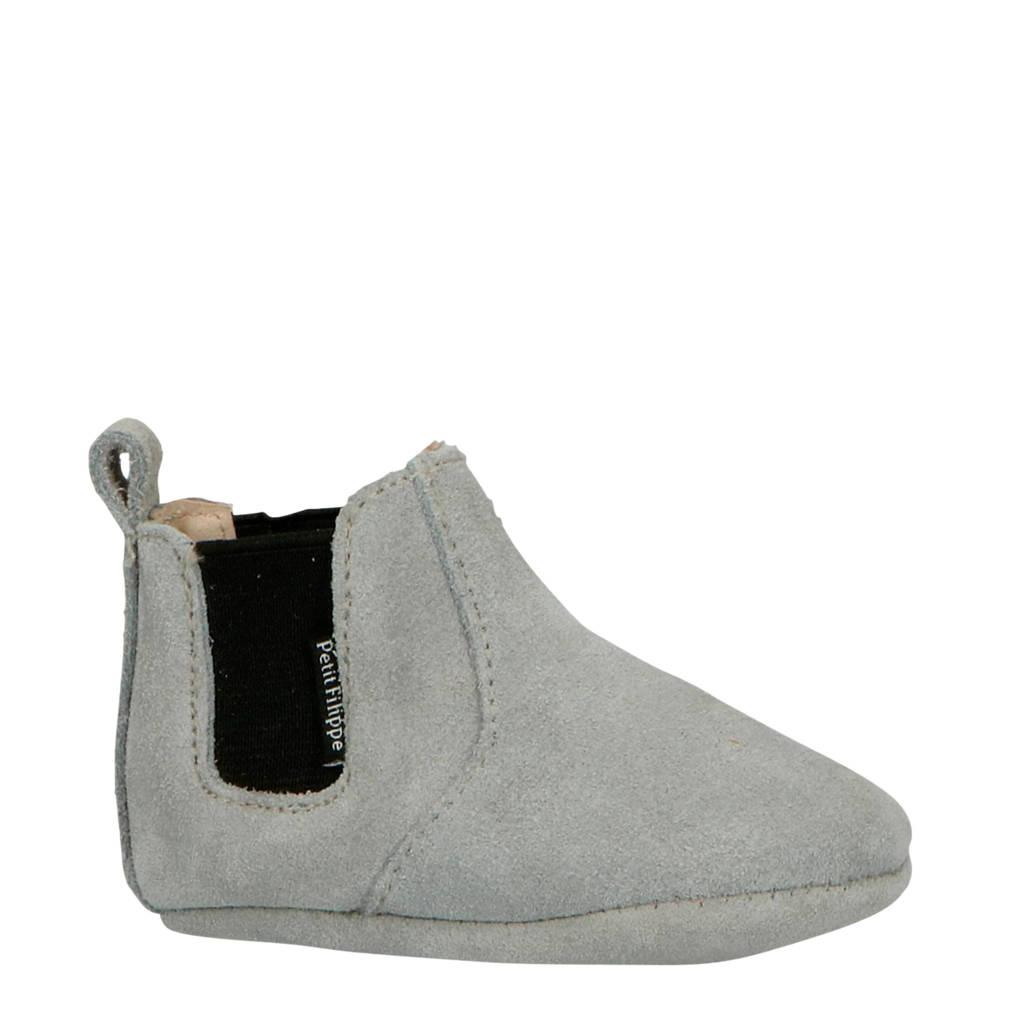 Petit Filippe suède chelsea boots grijs, Grijs