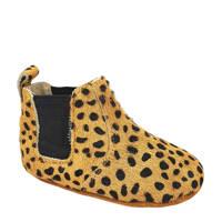 Petit Filippe   ponyhair chelsea boots beige, Beige/zwart
