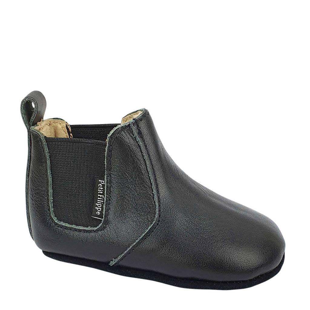 Petit Filippe leren chelsea boots zwart, Zwart