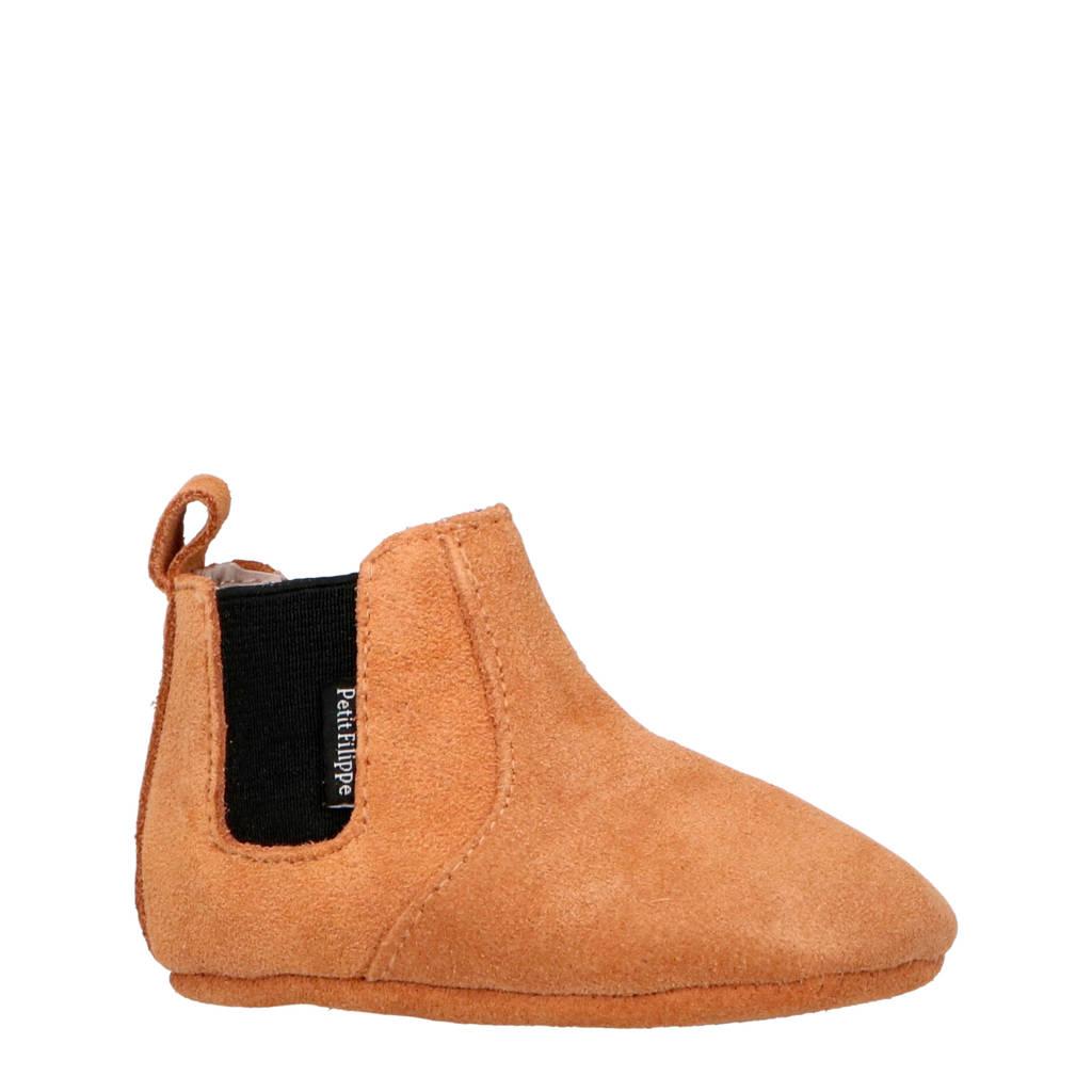 Petit Filippe suède chelsea boots zand, Zand