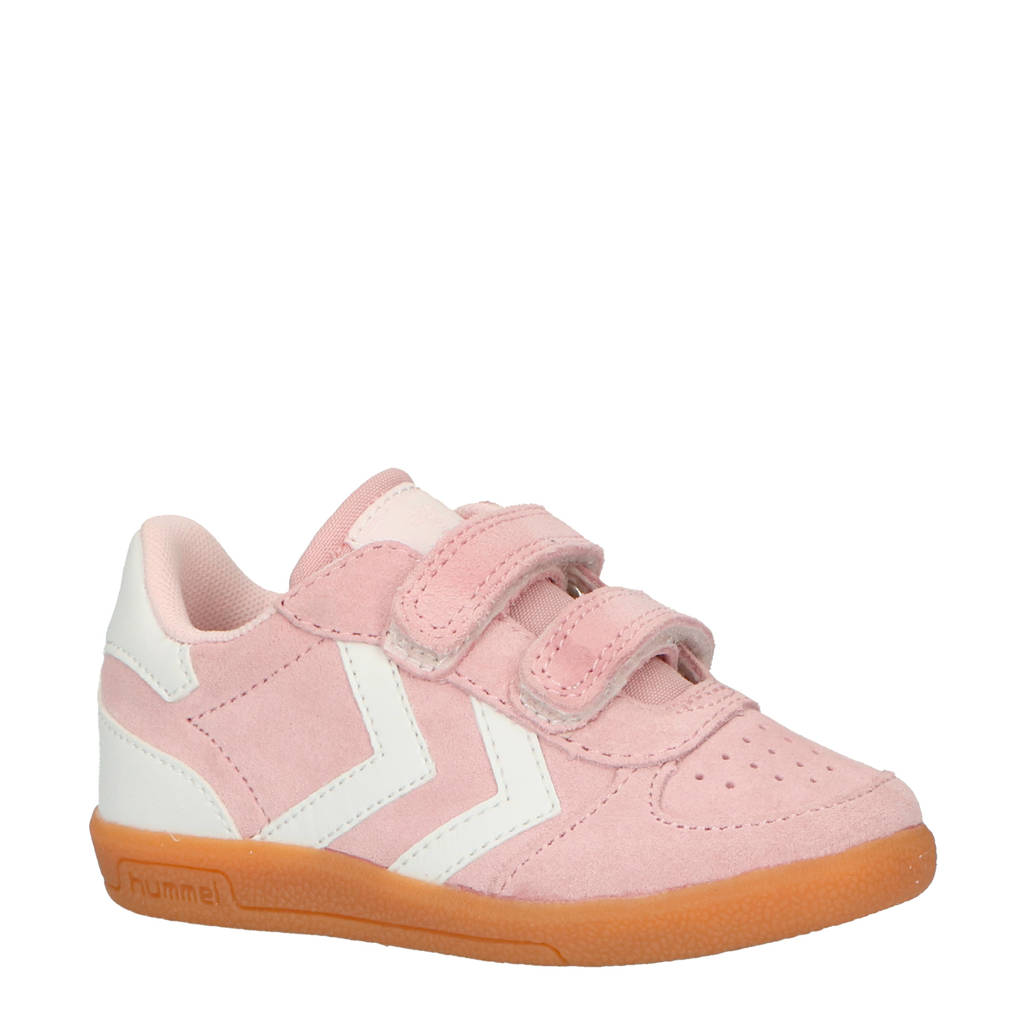 hummel Victory Suede Infant sneakers roze, Roze/wit