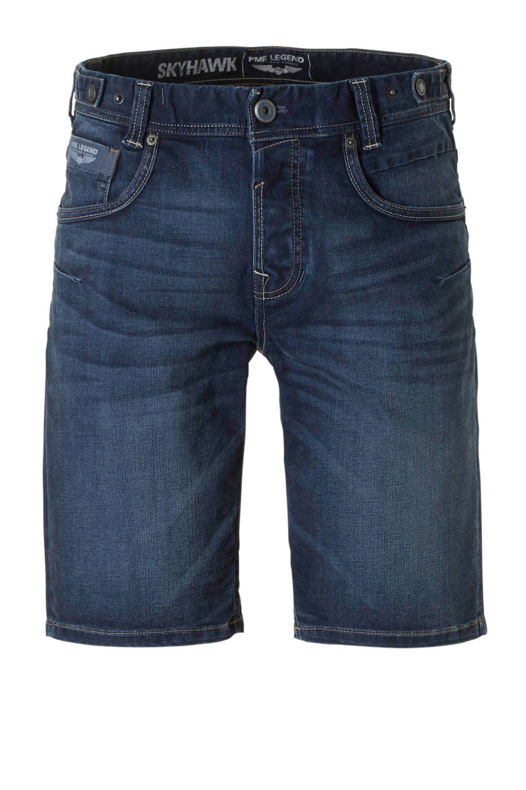 PME Legend regular fit jeans short, Donkerblauw