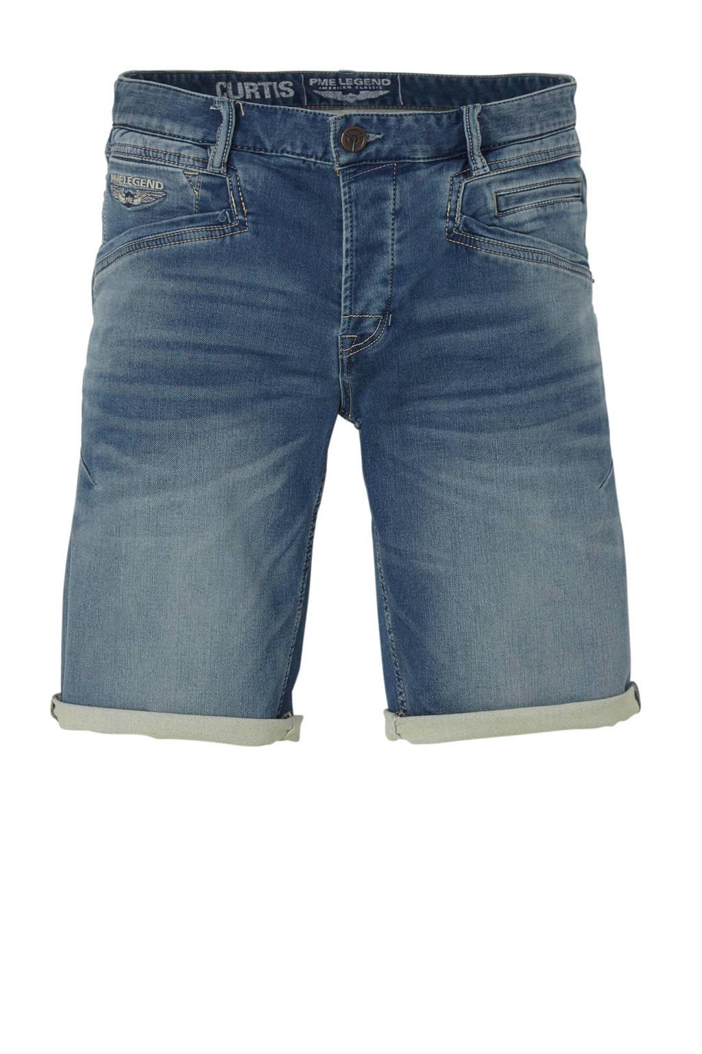 PME Legend regular fit jeans short, Donkerblauw