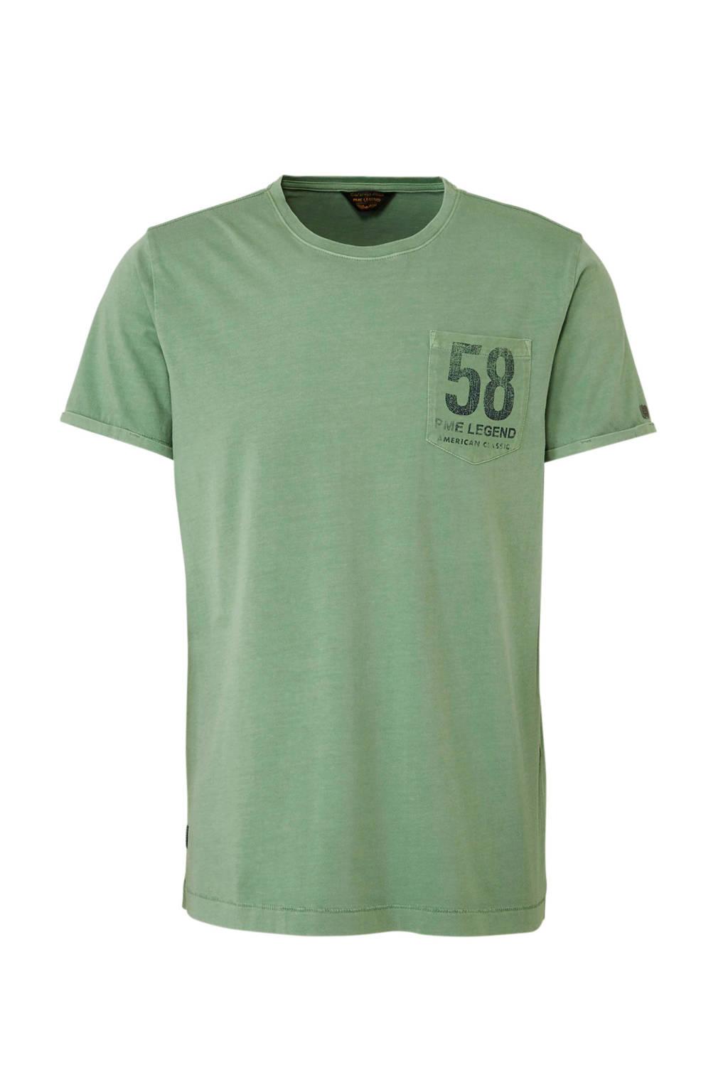 PME Legend  Pigment GD T-shirt groen, Groen