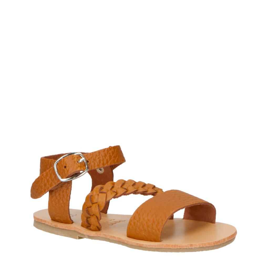 Petit Filippe leren sandalen bruin, Bruin