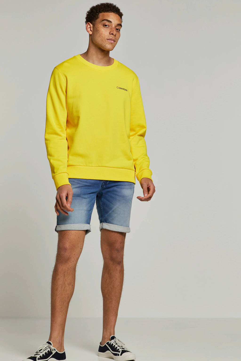 Jack & Jones Jeans Intelligence regular fit jeans short, Light denim