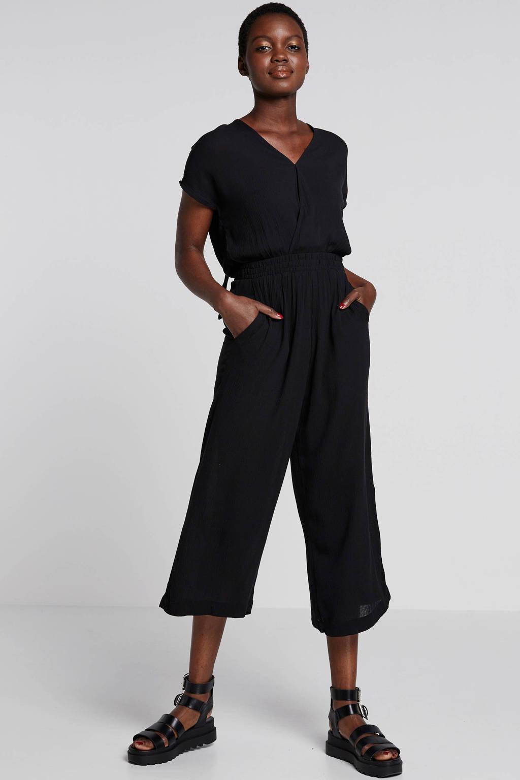 ICHI jumpsuit zwart, Zwart