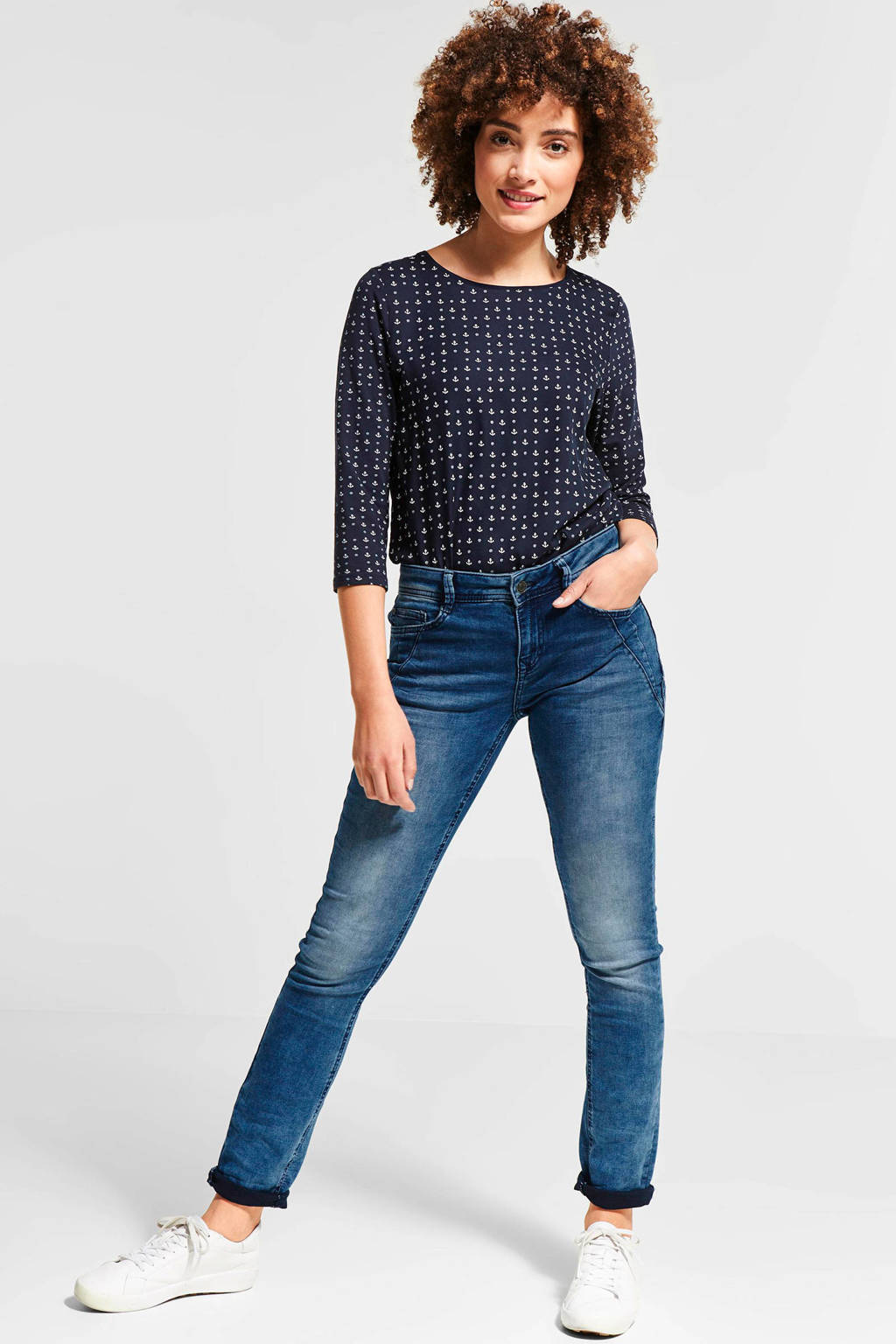 Street One Casual fit-jeans Jane, Blauw
