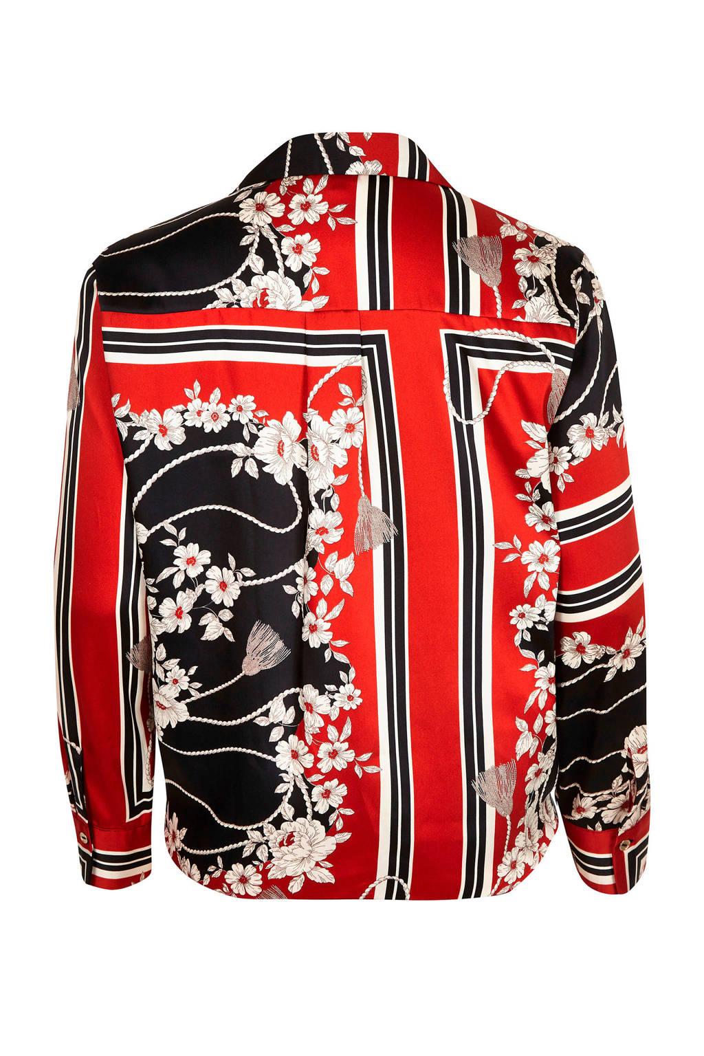 River Island Plus blouse met all over print, rood/ zwart