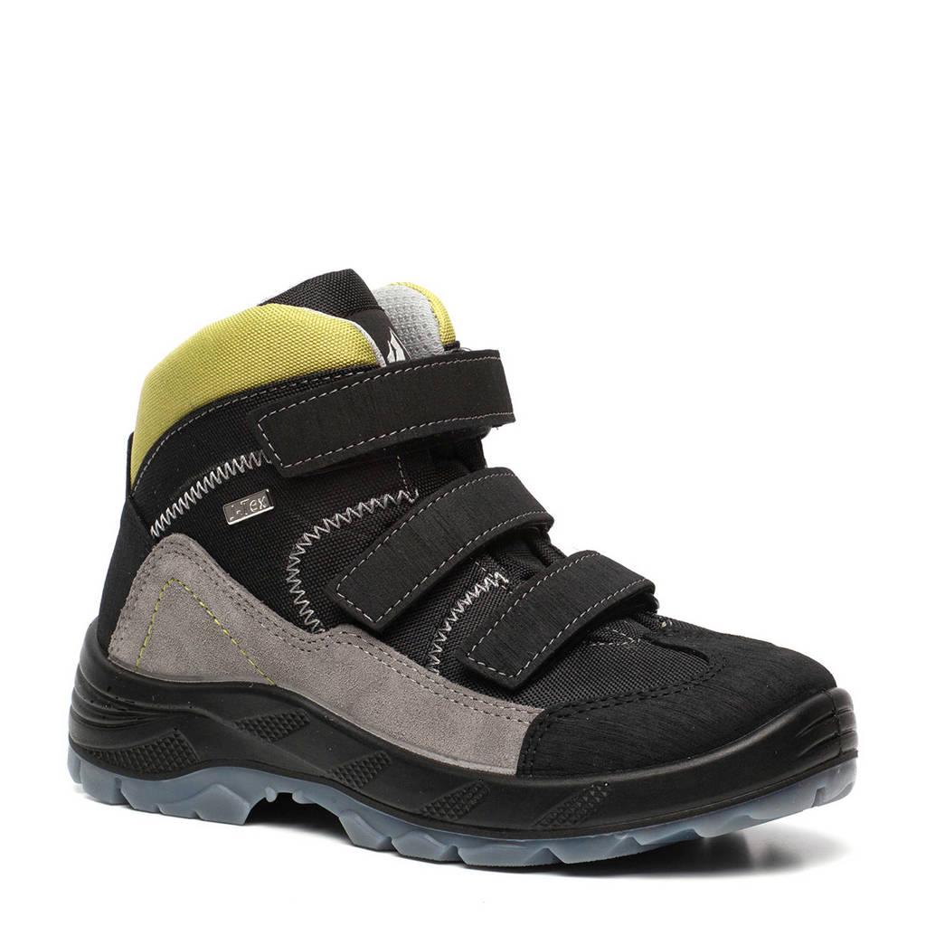 Mountain Peak   leren wandelschoenen bruin jongens, Groen/zwart