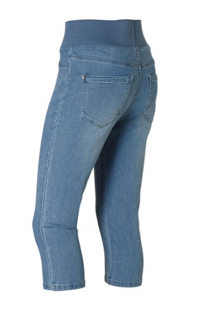 high waist slim fit capri jeans Shantal light blue denim