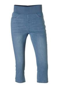 FREEQUENT high waist slim fit capri jeans Shantal light blue denim, Stonewashed