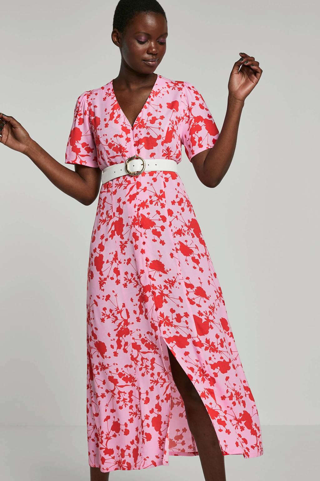 FREEQUENT jurk met bloemenprint, Roze/rood