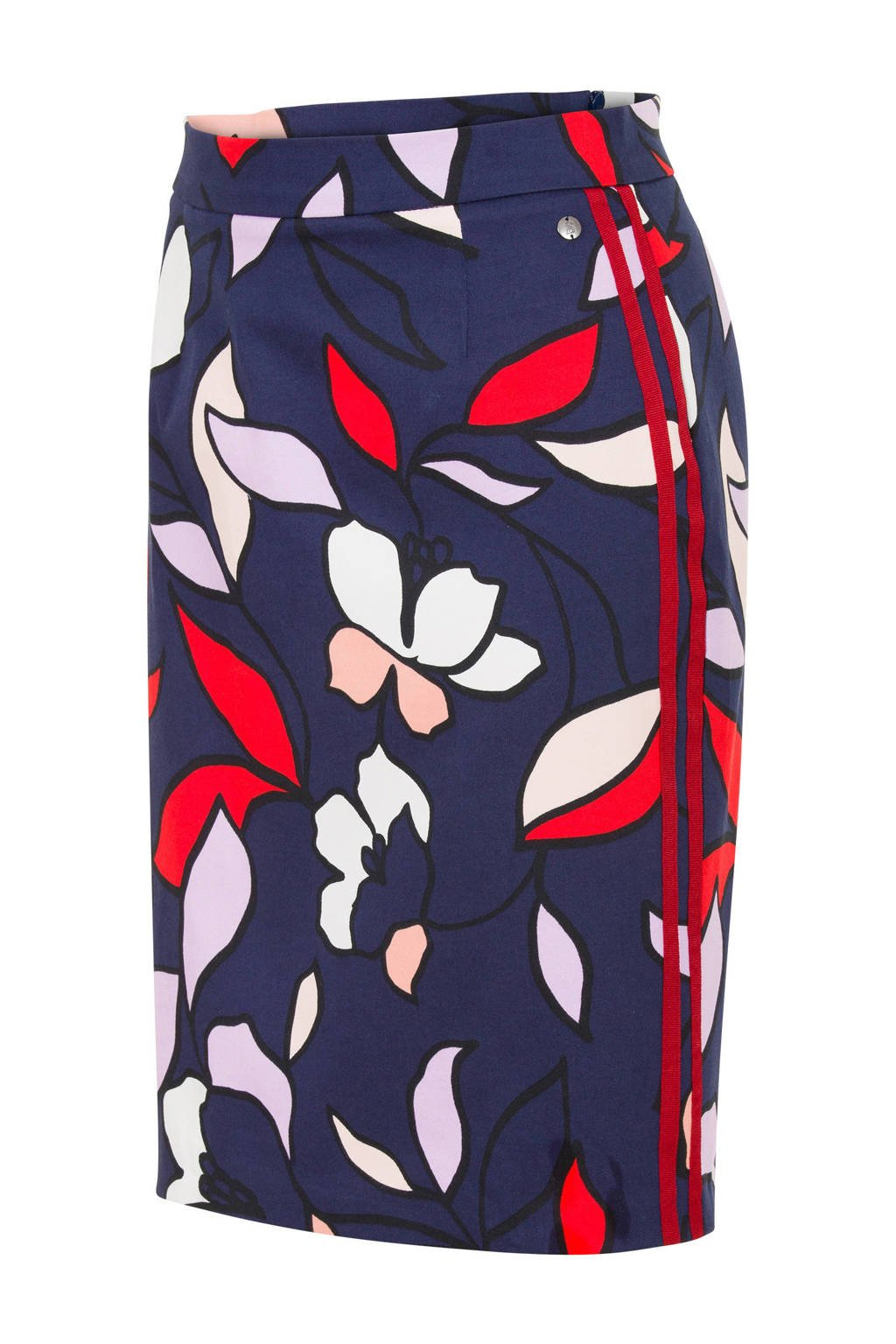 Steps rok met all-over print, Blauw/rood