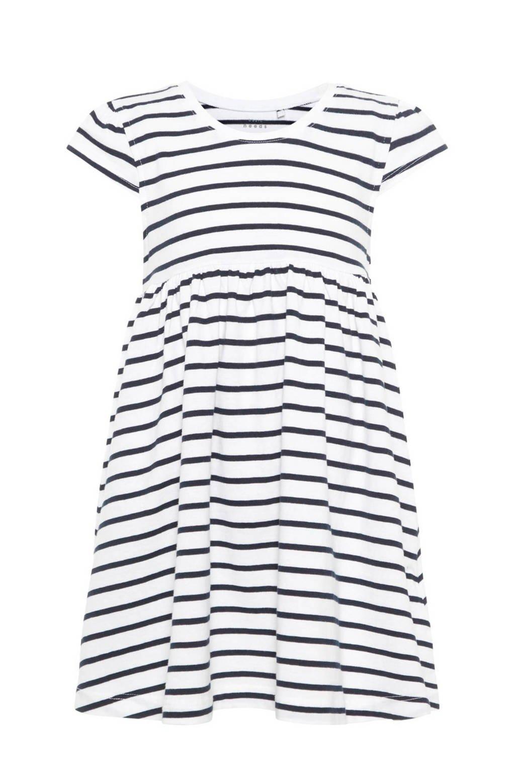 NAME IT jurk Vamaja donkerblauw, Donkerblauw/ wit