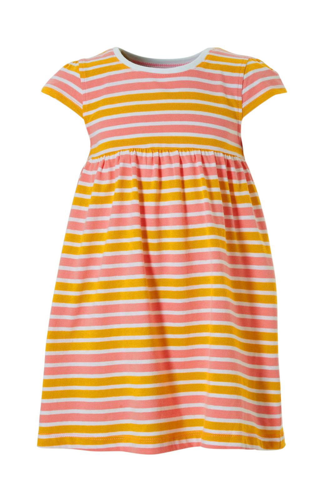 NAME IT gestreepte jurk Vamaja, Roze/ wit/ oranje