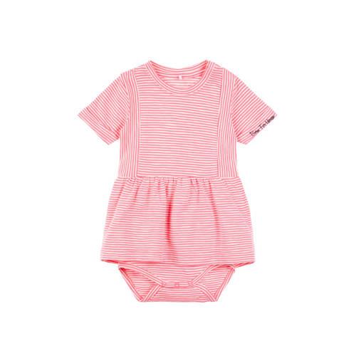 name it gestreepte newborn romperjurk Fantasi roze kopen