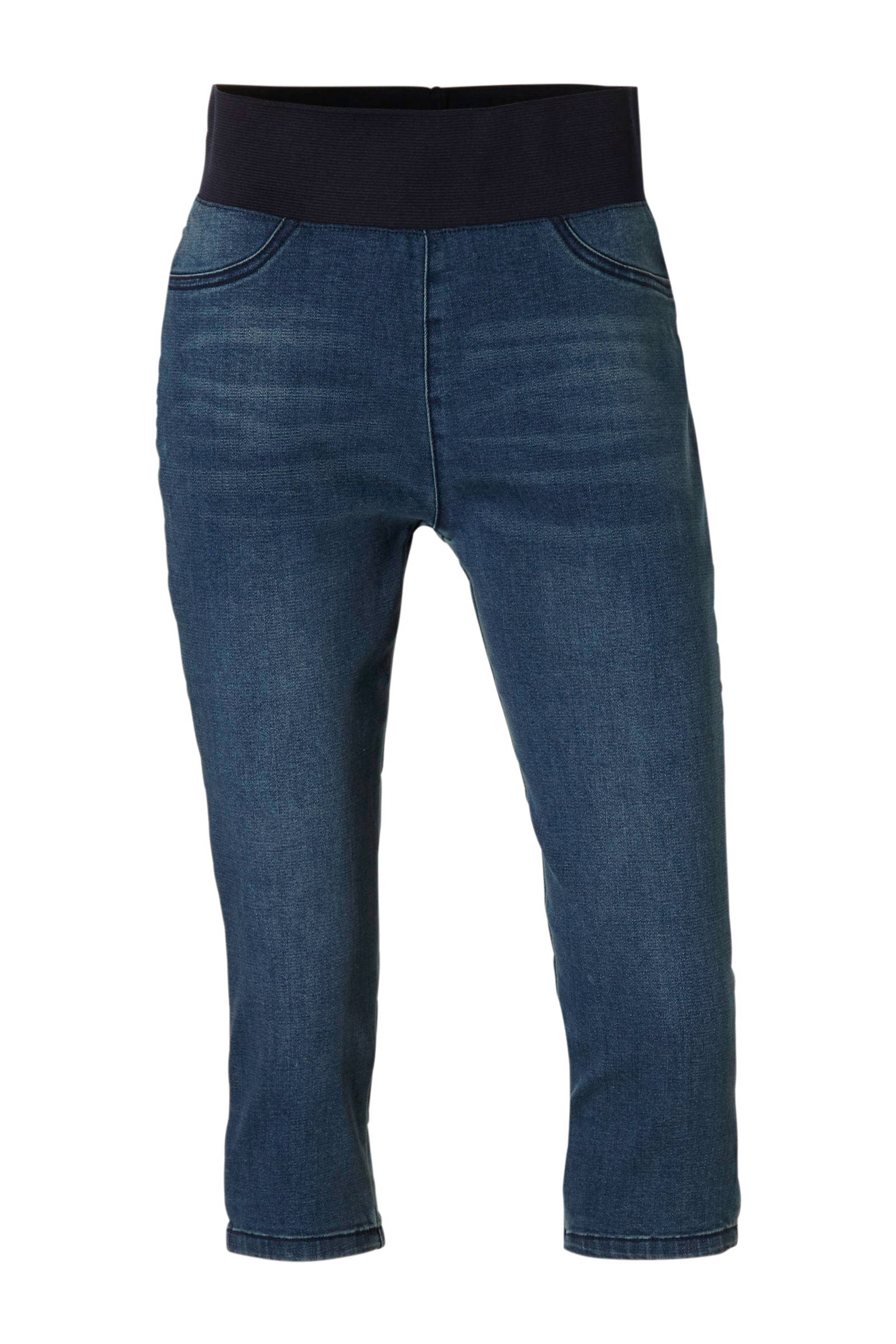 freequent capri jeans met elastische band shantal medium blue denim dark denim 5713837321532 - Capri Broek Met Elastische Band