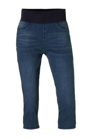 capri jeans met elastische band Shantal medium blue denim