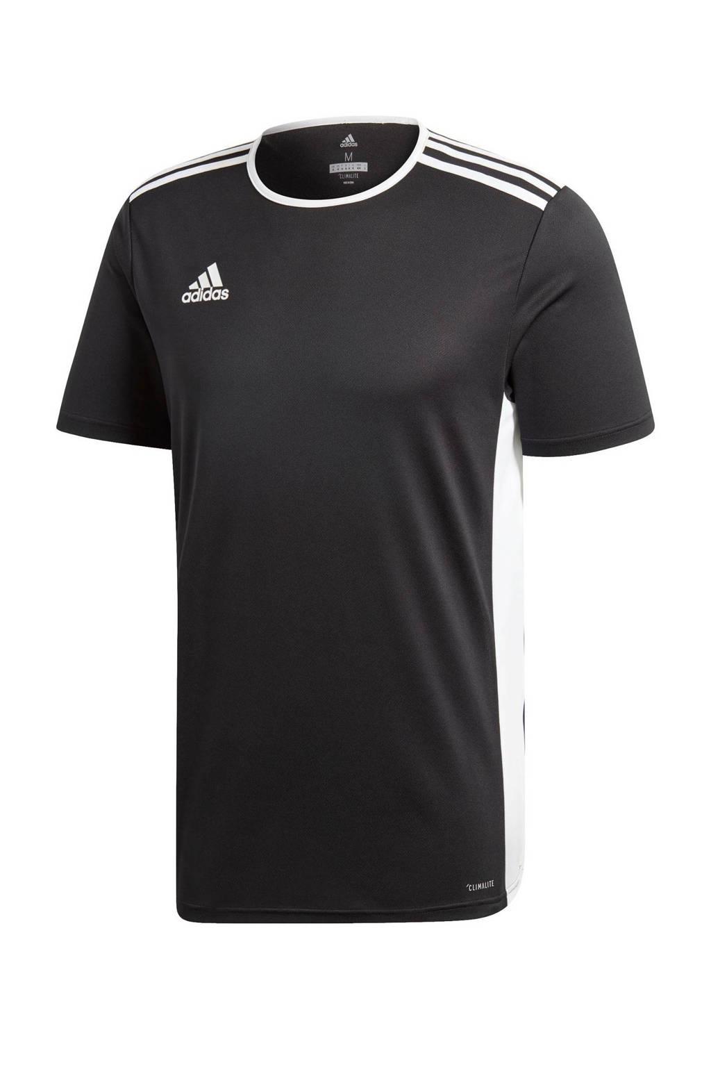 adidas Performance   sport T-shirt Entrada zwart, Zwart/wit, Heren