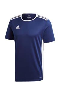 adidas   sport T-shirt Entrada donkerblauw, Donkerblauw/wit, Heren