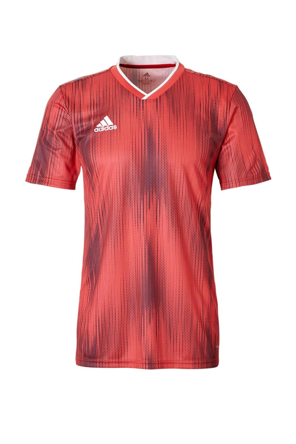 adidas performance Senior  sport T-shirt Tiro rood, Heren