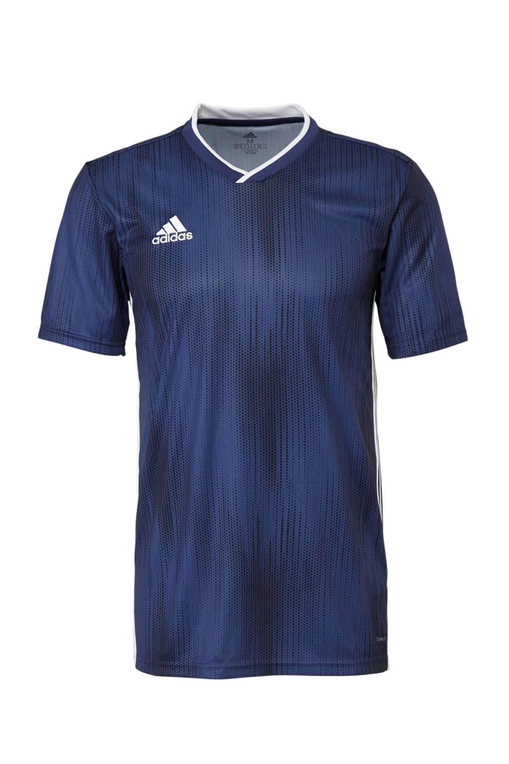 adidas performance Senior  sport T-shirt Tiro donkerblauw, Heren