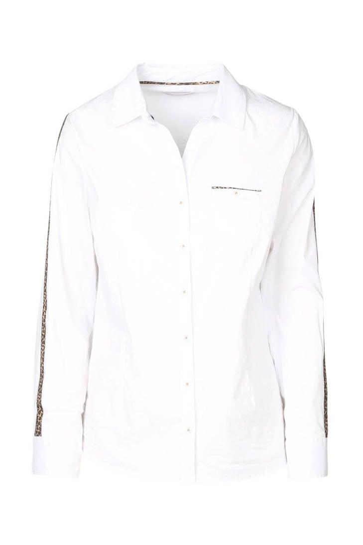 Cassis blouse met details details panterprint met panterprint Cassis blouse wpYrqwdB
