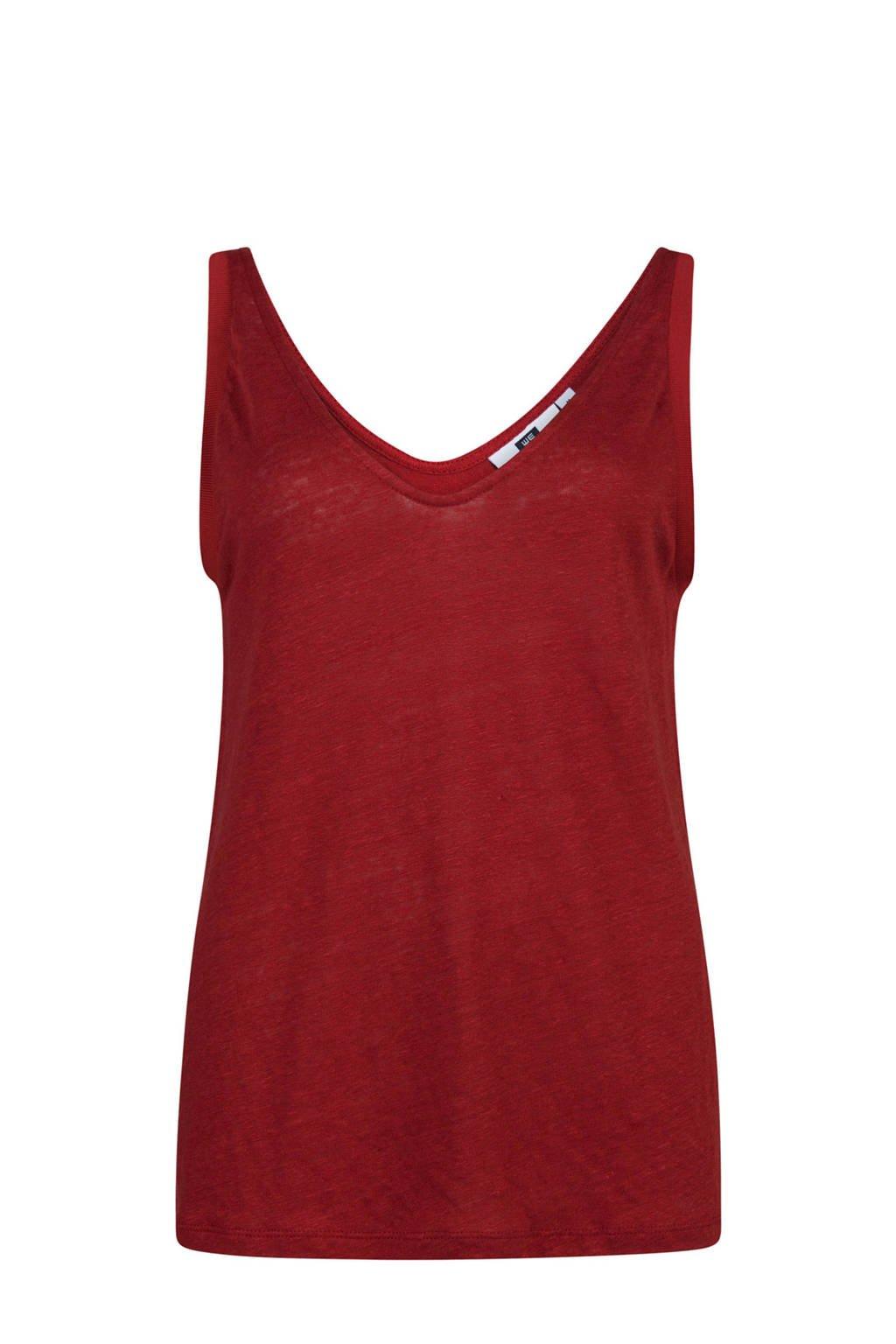 WE Fashion linnen singlet, Stone Red