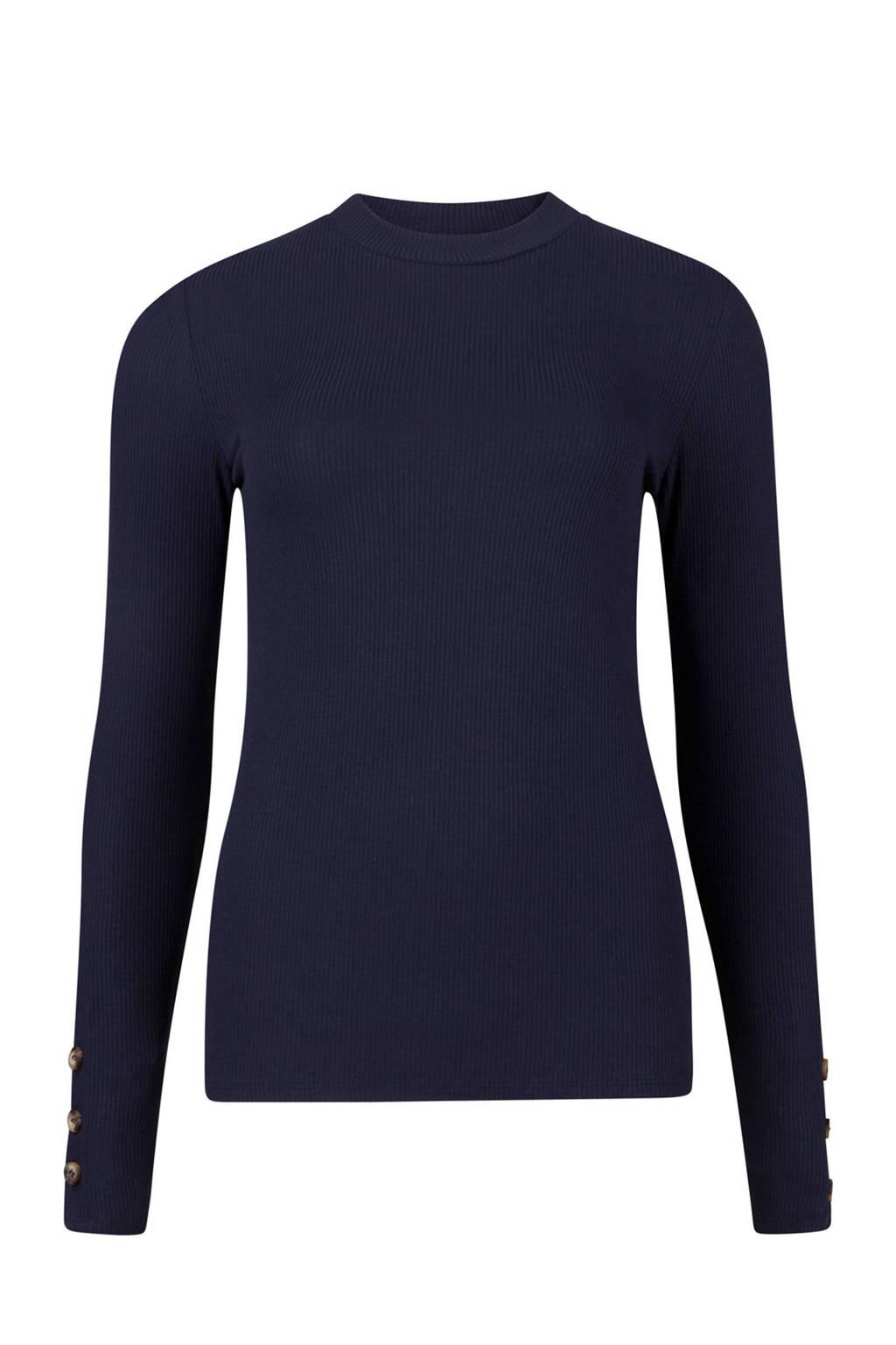 WE Fashion T-shirt blauw, Donkerblauw