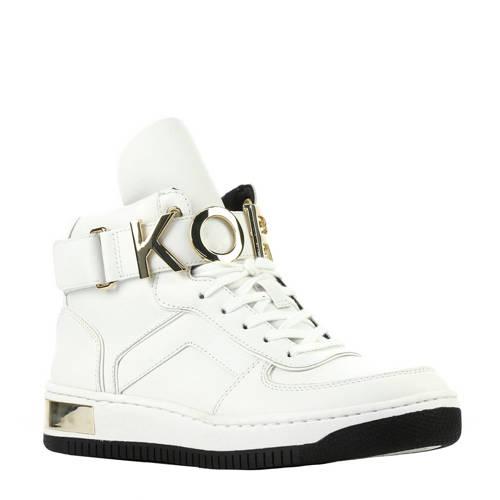 Michael Kors MK81 High Top leren sneakers wit