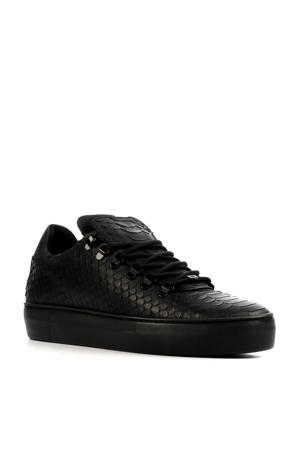Jagger Python leren sneakers zwart