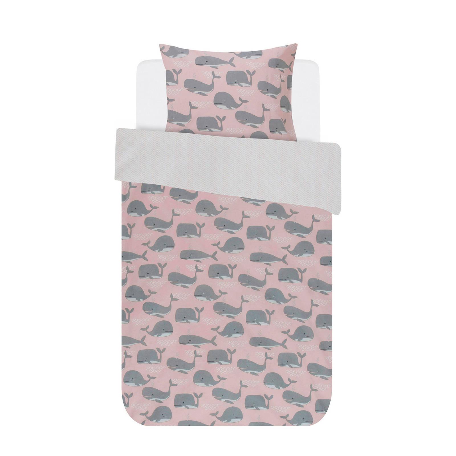 covers co katoenen peuterdekbedovertrek 120x150 cm roze
