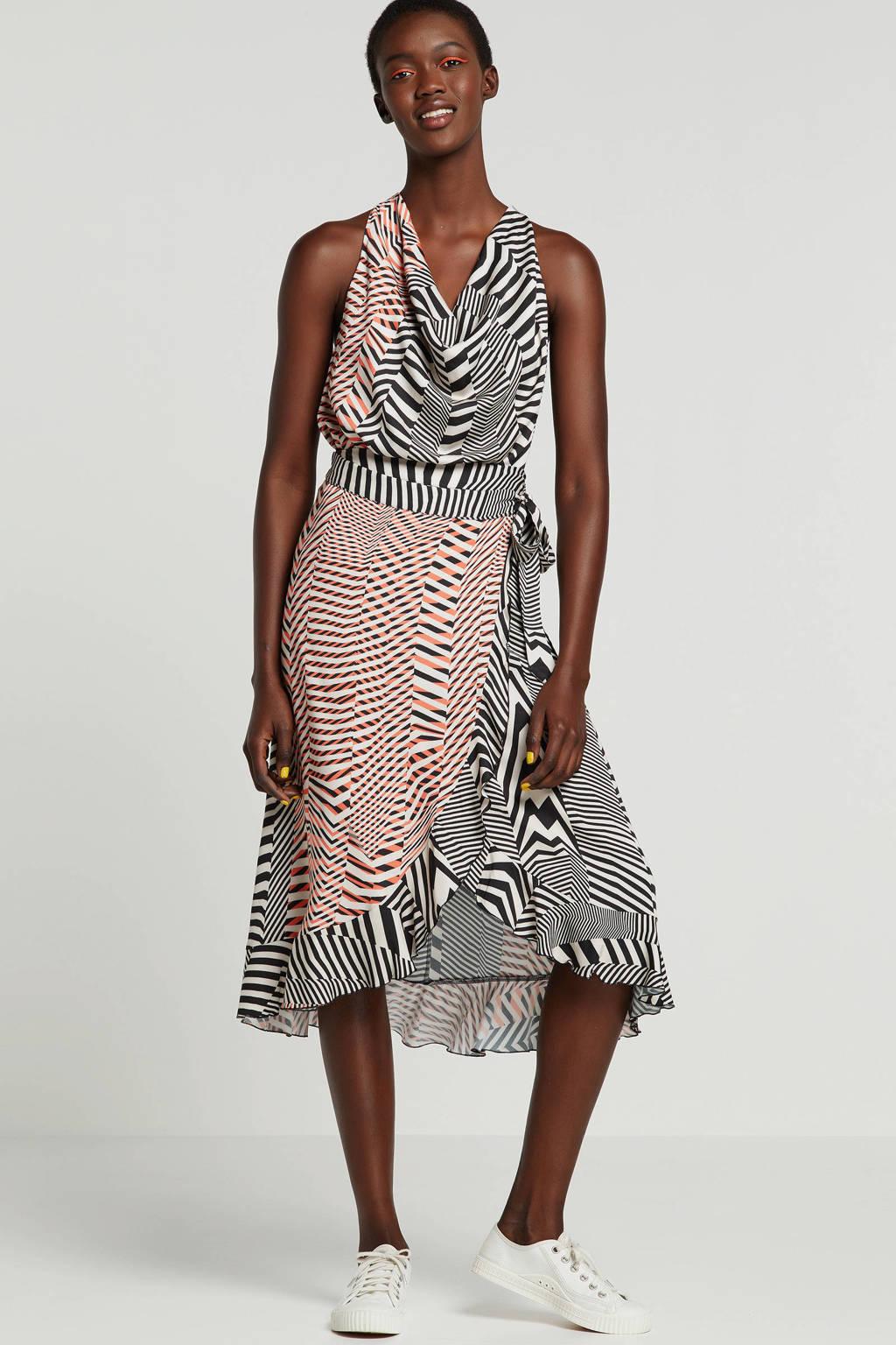 Summum Woman top met grafische print, Zwart/rood