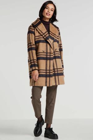 geruite coat bruin/zwart