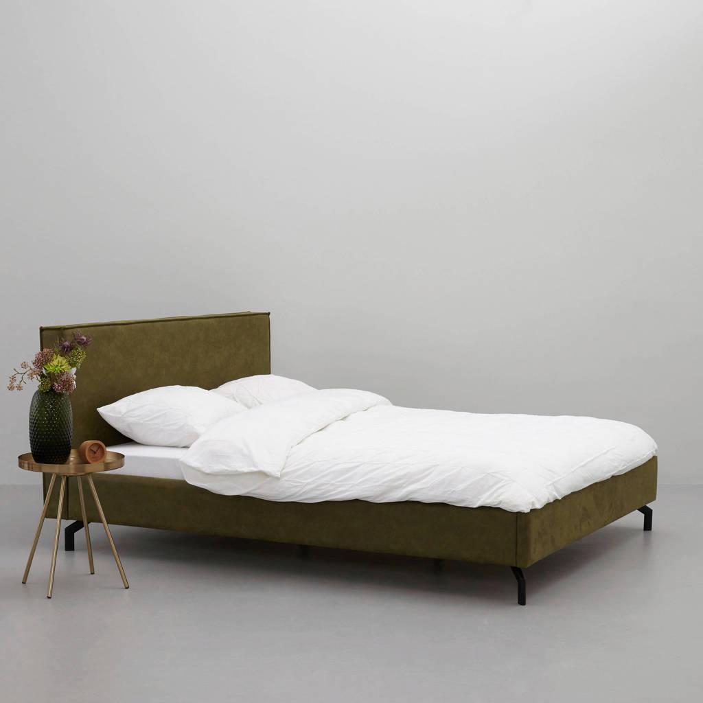 whkmp's own eco-leren bed Detroit  (180x210 cm), Groen