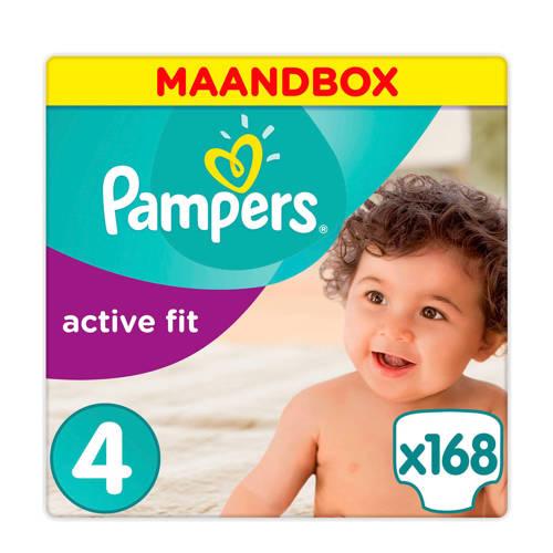 Pampers Active Fit maandbox maat 4 (8-16 kg) 168 luiers kopen