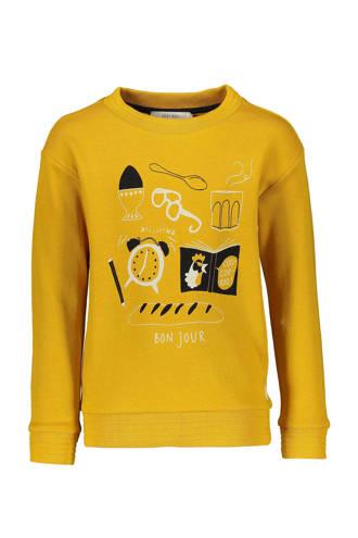 sweater met print geel
